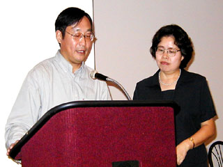 Dr. Zheng and Grace Liu.