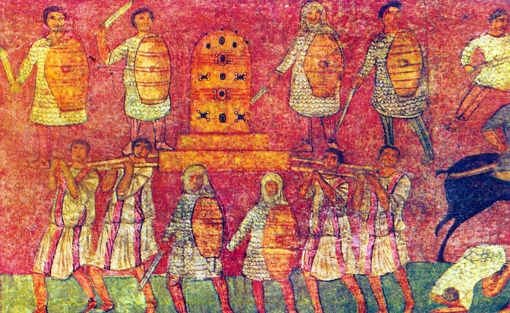 Dura Europos Textiles In Wall Paintings